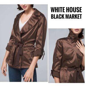 NWT White House Black Market Belted Soft Jacket